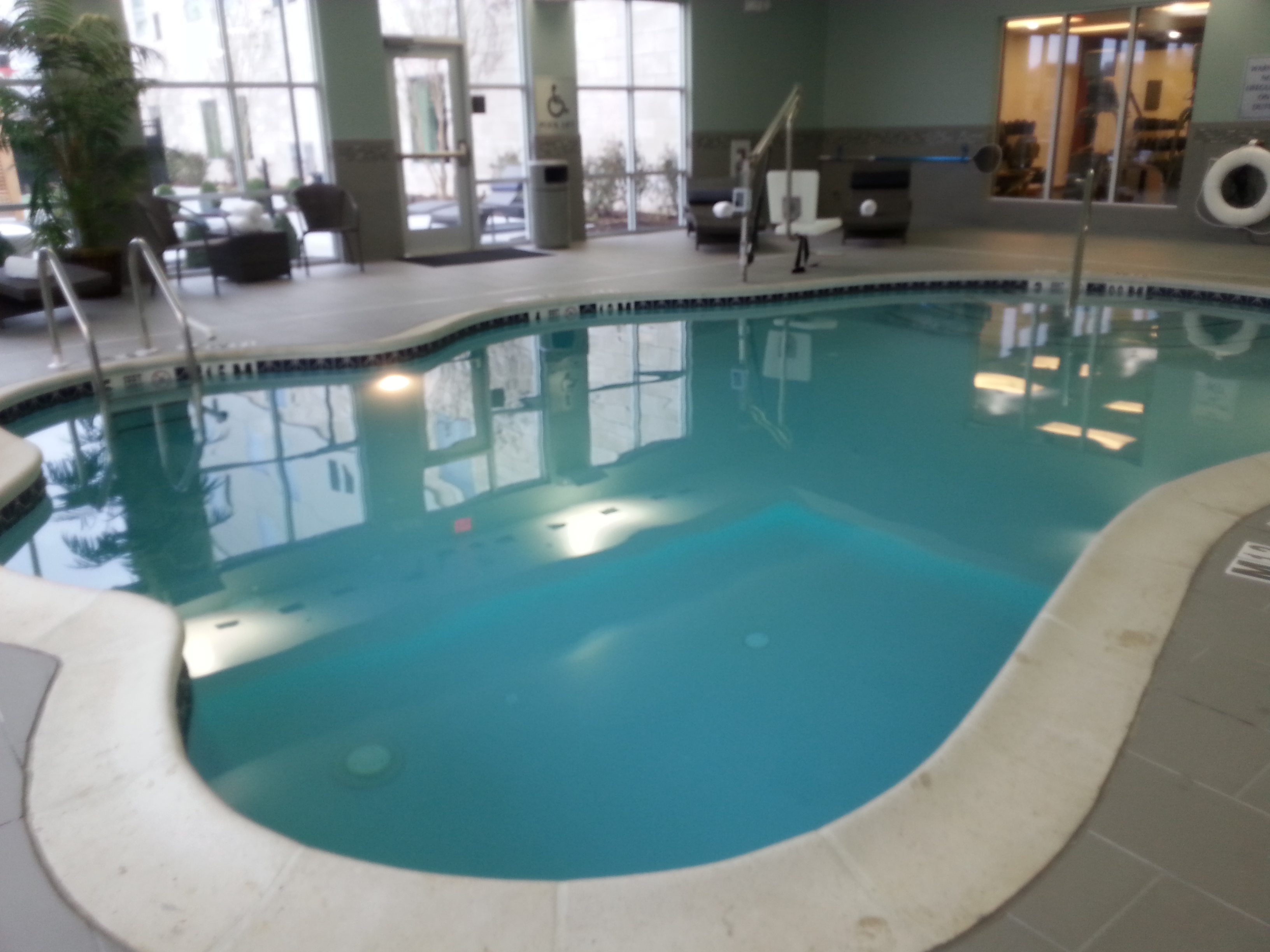 Hamilton homewood suites pool pic start making waves for Pool design bordentown nj